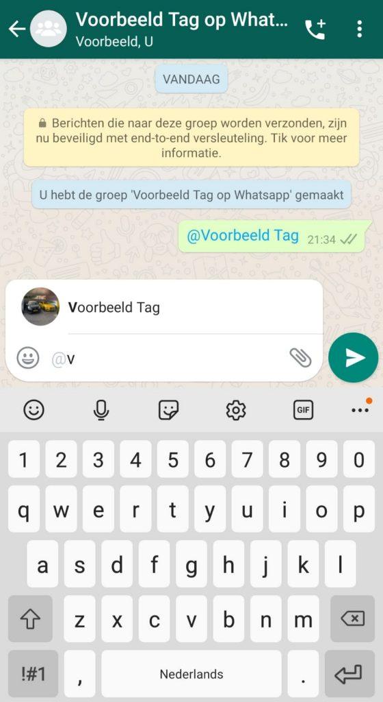 taggen op whatsapp